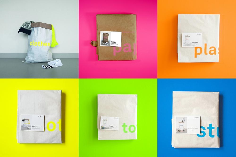 kolor papiersack clothes die nachhaltige aufbewahrung aus berlin ebay. Black Bedroom Furniture Sets. Home Design Ideas
